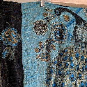 Accessories - Blue Peacock Pashmina Scarf